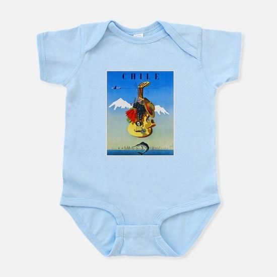 Chile Travel Poster 1 Infant Bodysuit