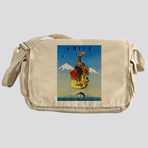 Chile Travel Poster 1 Messenger Bag