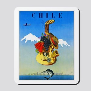 Chile Travel Poster 1 Mousepad