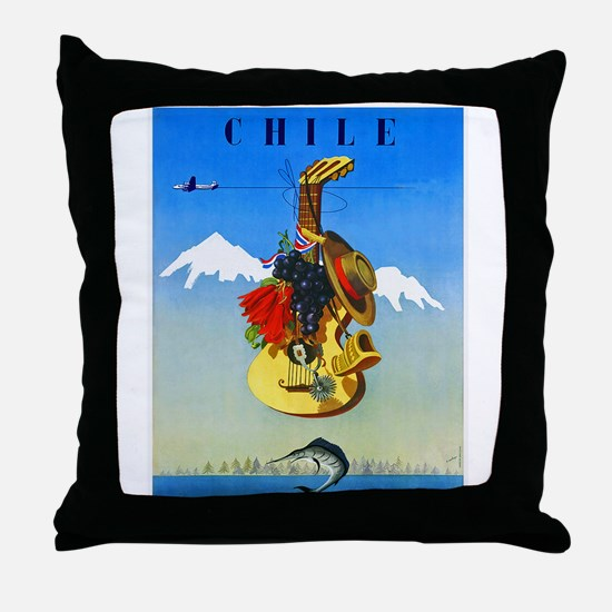 Chile Travel Poster 1 Throw Pillow