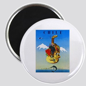 Chile Travel Poster 1 Magnet