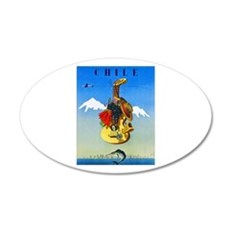 Chile Travel Poster 1 Wall Decal