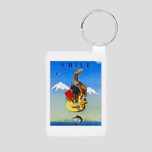 Chile Travel Poster 1 Aluminum Photo Keychain