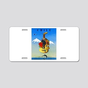Chile Travel Poster 1 Aluminum License Plate