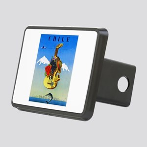 Chile Travel Poster 1 Rectangular Hitch Cover