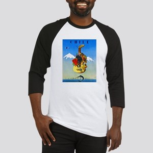 Chile Travel Poster 1 Baseball Jersey