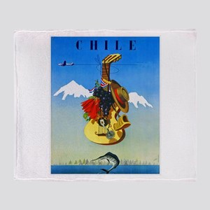 Chile Travel Poster 1 Throw Blanket