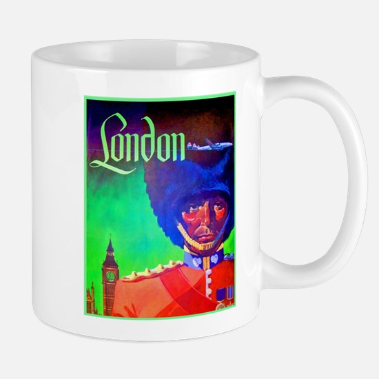 London Travel Poster 1 Mug