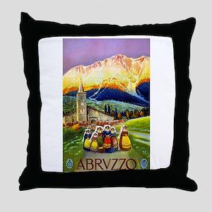 Abruzzo Italy Travel Poster 1 Throw Pillow