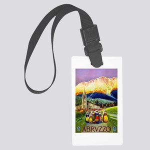 Abruzzo Italy Travel Poster 1 Large Luggage Tag