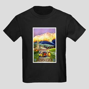 Abruzzo Italy Travel Poster 1 Kids Dark T-Shirt