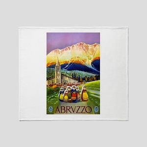 Abruzzo Italy Travel Poster 1 Throw Blanket