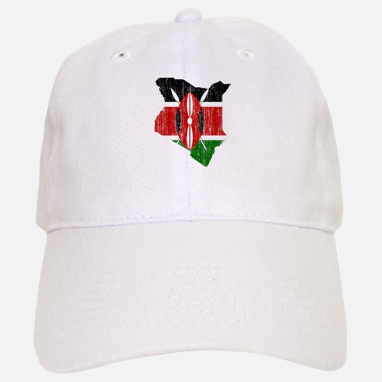 Kenya Flag And Map Baseball Baseball Cap