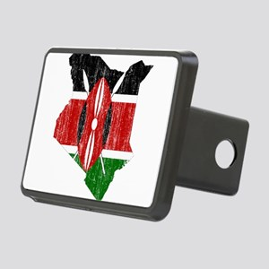 Kenya Flag And Map Rectangular Hitch Cover