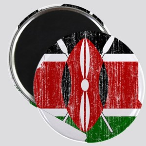 Kenya Flag And Map Magnet