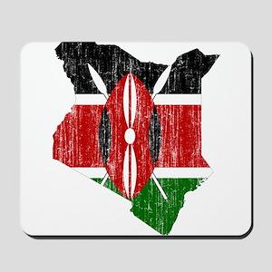 Kenya Flag And Map Mousepad