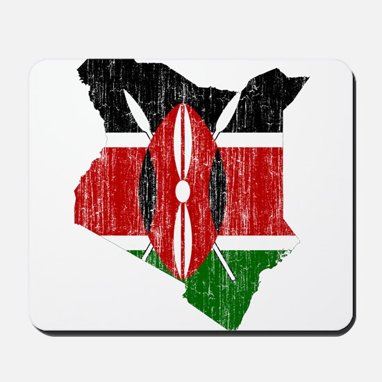 Kenya Flag And Map Mousepad
