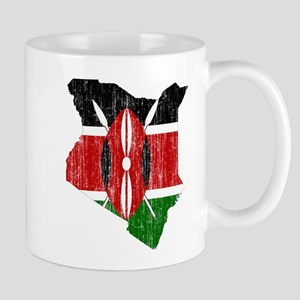 Kenya Flag And Map Mug