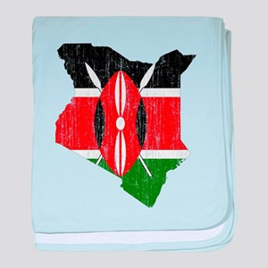 Kenya Flag And Map baby blanket