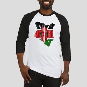 Kenya Flag And Map Baseball Jersey