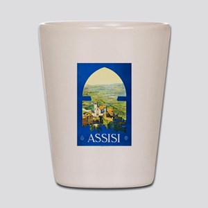 Assisi Italy Travel Poster 1 Shot Glass