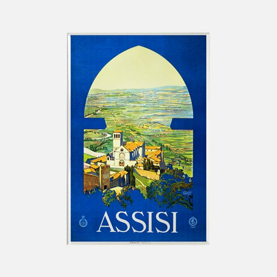 Assisi Italy Travel Poster 1 Rectangle Magnet