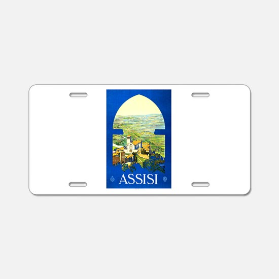Assisi Italy Travel Poster 1 Aluminum License Plat