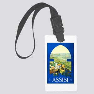 Assisi Italy Travel Poster 1 Large Luggage Tag
