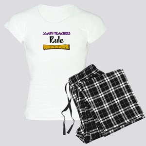 Math Teachers Rule Women's Light Pajamas