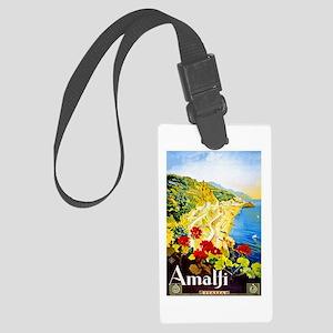 Amalfi Italy Travel Poster 1 Large Luggage Tag