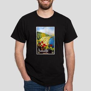 Amalfi Italy Travel Poster 1 Dark T-Shirt