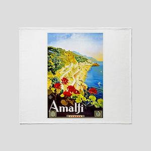 Amalfi Italy Travel Poster 1 Throw Blanket