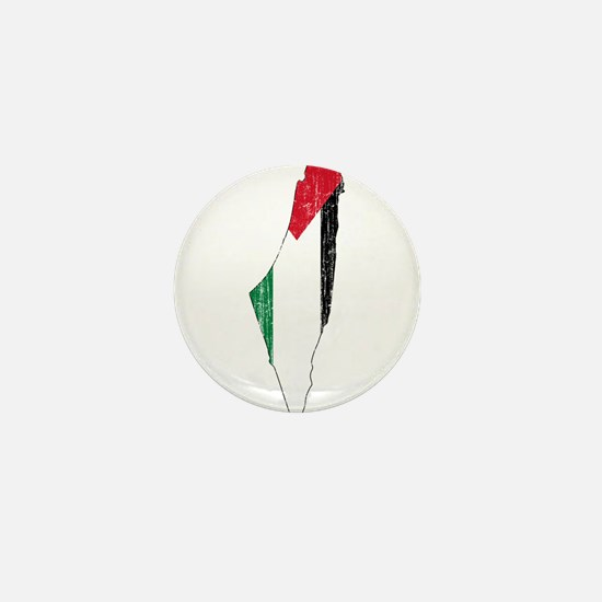 Palestine Flag And Map Mini Button