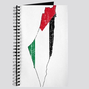 Palestine Flag And Map Journal