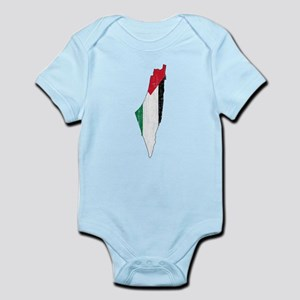 Palestine Flag And Map Infant Bodysuit