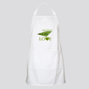 TENNIS PLAYERS DO IT WITH LOVE Apron