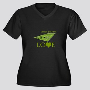 TENNIS PLAYERS DO IT WITH LOVE Women's Plus Size V