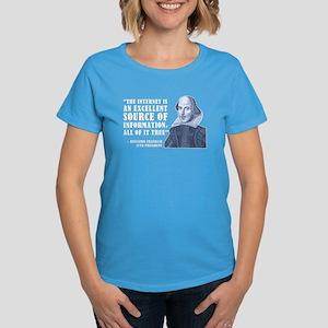 Franklin Quote Women's Dark T-Shirt