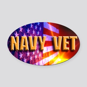 Navy Vet bur Oval Car Magnet