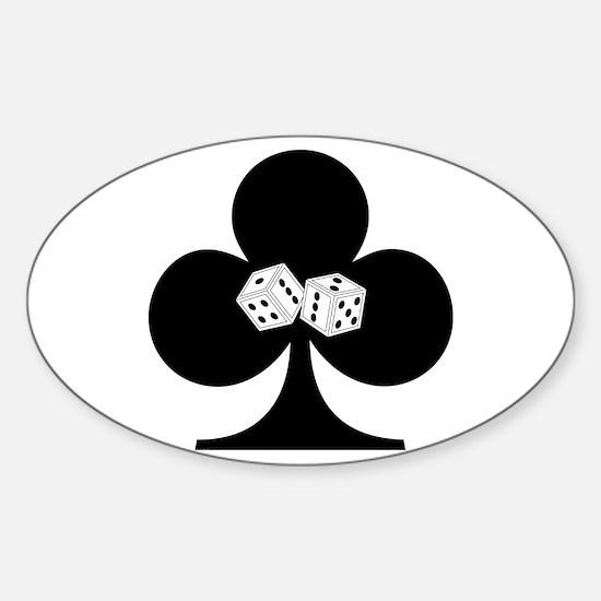 Dice Club Sticker (Oval)
