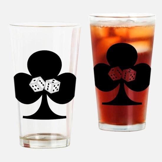 Dice Club Drinking Glass
