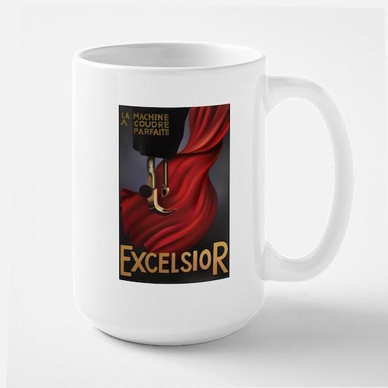Vintage Excelsior Poster Large Mug