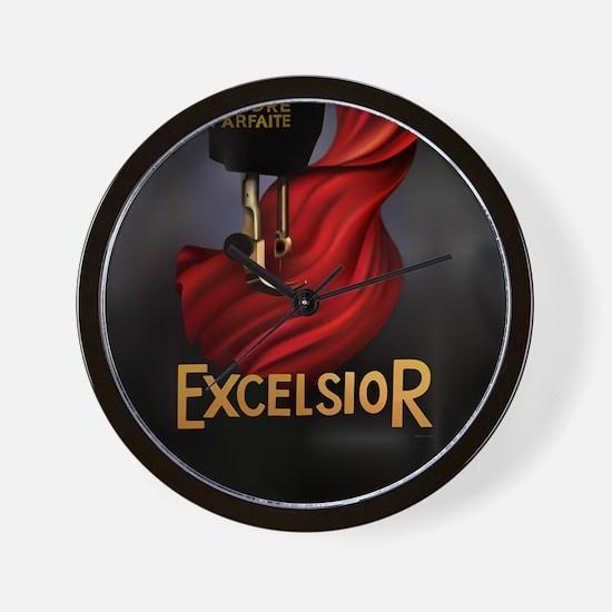 Vintage Excelsior Poster Wall Clock