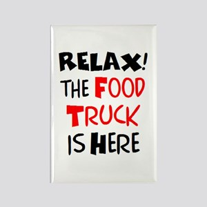 relax! food truck here Rectangle Magnet