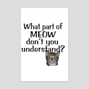 MEOW Mini Poster Print
