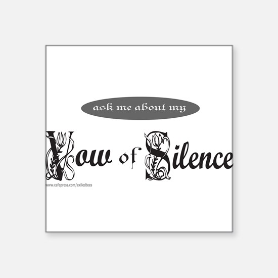 """VOW OF SILENCE Square Sticker 3"""" x 3"""""""
