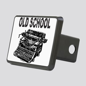 OLD SCHOOL TYPEWRITER Rectangular Hitch Cover
