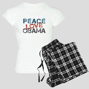Peace Love Obama Women's Light Pajamas