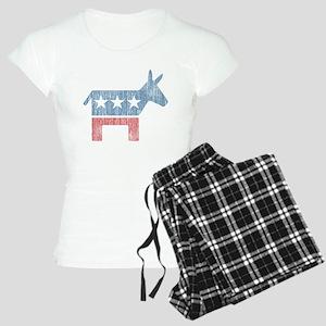 Vintage Democrat Donkey Women's Light Pajamas