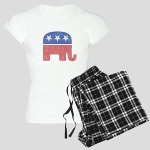 Old Republican Elephant Women's Light Pajamas